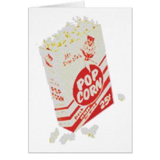 Retro Vintage Movie Theater Popcorn Card