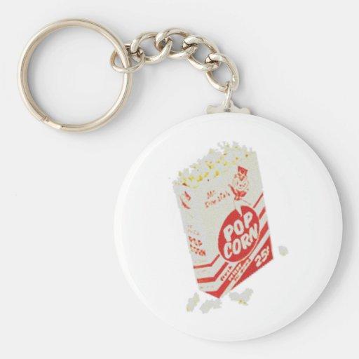 Retro Vintage Movie Theater Popcorn Keychain