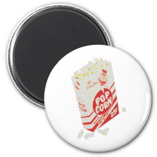 Retro Vintage Movie Theater Popcorn Magnet