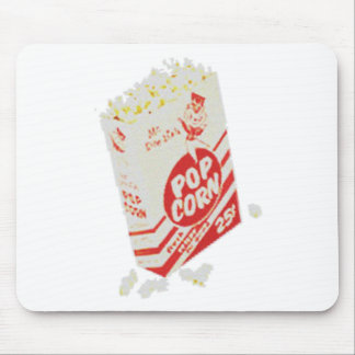 Retro Vintage Movie Theater Popcorn Mouse Pad