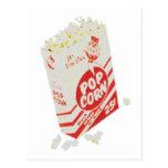 Retro Vintage Movie Theater Popcorn Postcard