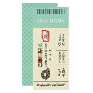 movie ticket invitations zazzle