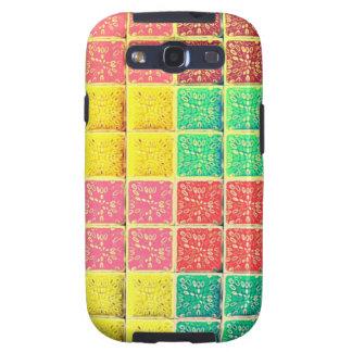 Retro Vintage Multi Colored Square Galaxy S3 Cover