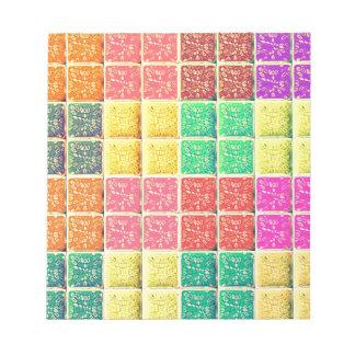 Retro Vintage Multi Colored Square Memo Note Pads