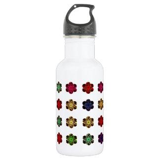 Retro Vintage Multicolored Flowers Design 18oz Water Bottle