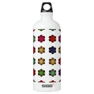 Retro Vintage Multicolored Flowers Design SIGG Traveler 1.0L Water Bottle