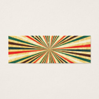 Retro Vintage Multicolored Swirl Pattern Mini Business Card