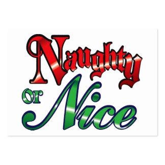 Retro Vintage Naughty or Nice Christmas Holiday Large Business Card