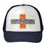 Retro Vintage Netherlands Antilles Flag Mesh Hats