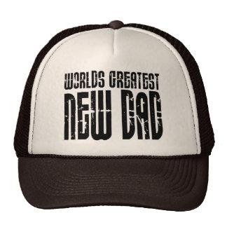 Retro Vintage New Dads World s Greatest New Dad Trucker Hats