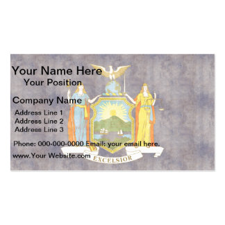 Retro Vintage New York Flag Double-Sided Standard Business Cards (Pack Of 100)