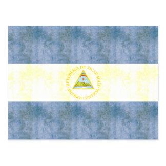 Retro Vintage Nicaragua Flag Post Cards