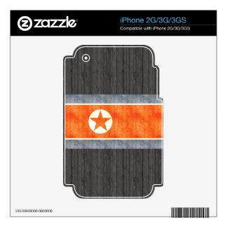 Retro Vintage North Korea Flag Skin For The iPhone 2G