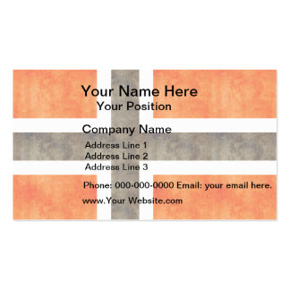 Retro Vintage Norway Flag Business Cards