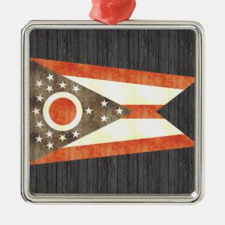 Retro Vintage Ohio Flag Christmas Ornament