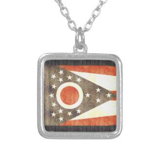 Retro Vintage Ohio Flag Custom Necklace