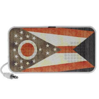 Retro Vintage Ohio Flag Notebook Speaker