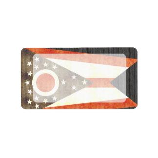 Retro Vintage Ohio Flag Personalized Address Label