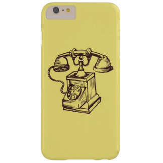 Retro Vintage Old Phone Design Barely There iPhone 6 Plus Case