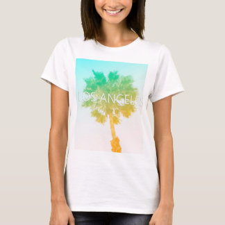 Retro Vintage Ombre Los Angeles Palm Tree Shirt
