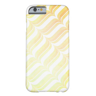 Retro Vintage Orange Watercolor Geometric Pattern Barely There iPhone 6 Case