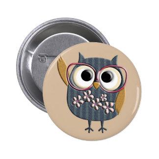 Retro Vintage Owl Button