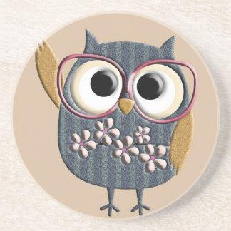 Retro Vintage Owl Coaster