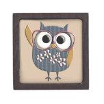 Retro Vintage Owl Keepsake Box