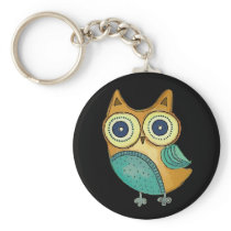 Retro Vintage Owl Keychain