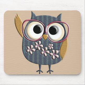 Retro Vintage Owl Mousepad