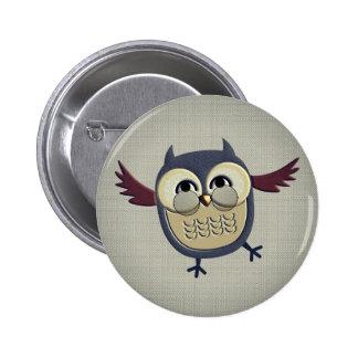 Retro Vintage Owl Pinback Button