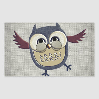 Retro Vintage Owl Rectangular Sticker