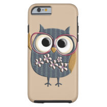 Retro Vintage Owl Tough iPhone 6 Case