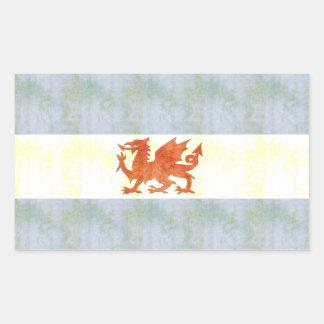 Retro Vintage Patagonia Flag Rectangular Stickers