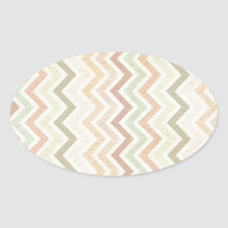 retro vintage pattern oval sticker