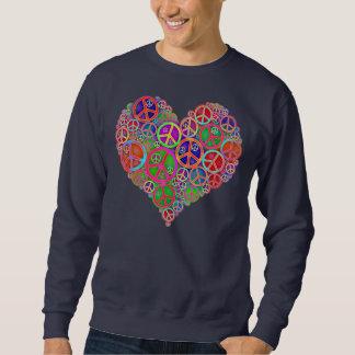 Retro Vintage Peace Heart Sweatshirt