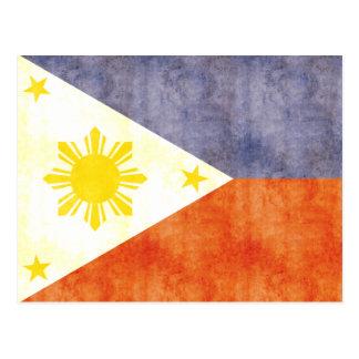 Retro Vintage Philippines Flag Postcard