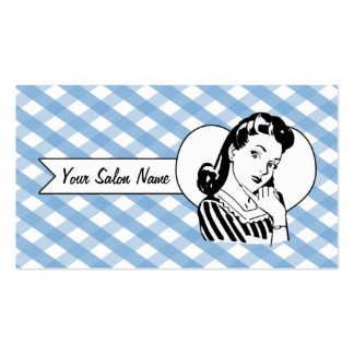 retro vintage pinup girl hair stylist hairstylist business card