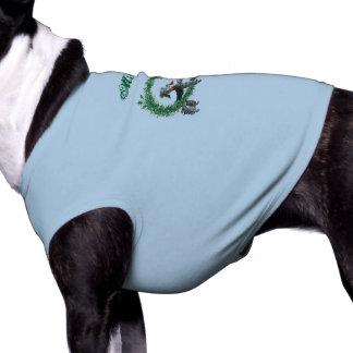 Retro Vintage Poodles in Wreaths Design Shirt