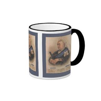 Retro vintage portrait of Queen Victoria Ringer Coffee Mug