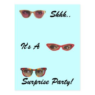 Retro Vintage Postcard Surprise Party Discreet Fun