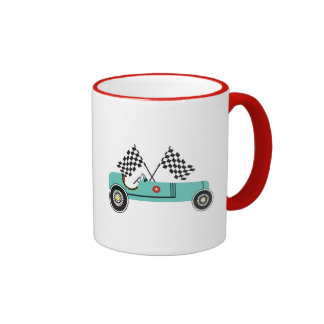 Retro vintage racing car child mug