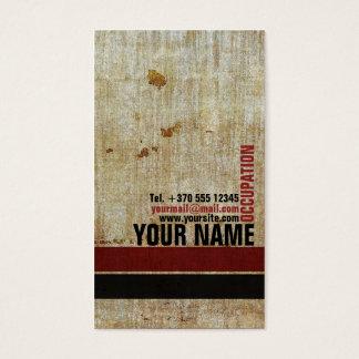 Retro Vintage Red Black Patterned Stylish Card