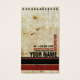 Retro Vintage Red Black Stars Stylish Card
