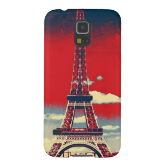 retro vintage red blue Paris Effiel Tower fashion Cases For Galaxy S5