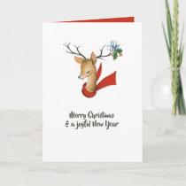 Retro Vintage Reindeer Christmas Card