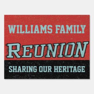 Retro Vintage Reunion Sign