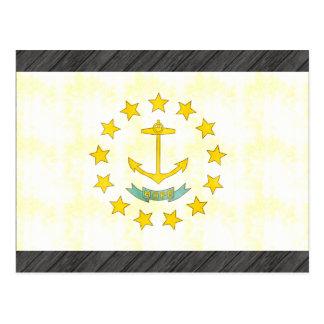 Retro Vintage Rhode Island Flag Postcard