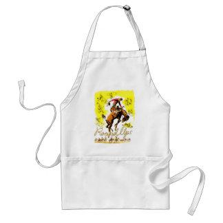 Retro Vintage Rodeo Cowboy Roundup Adult Apron