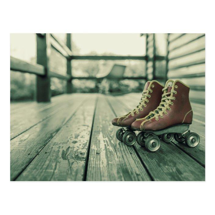 Retro Vintage Roller Skates Postcard Zazzle Com